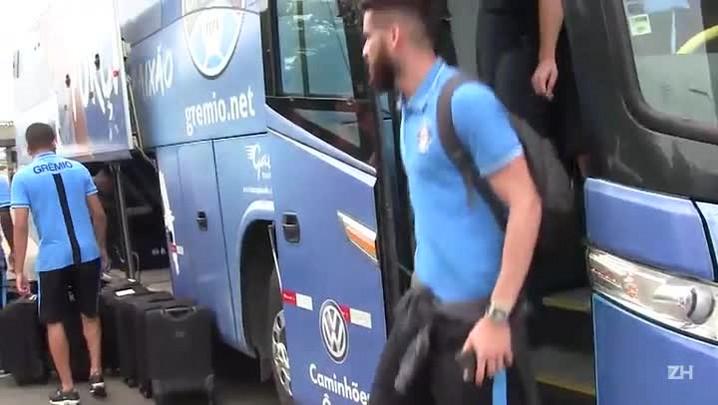 Grêmio embarca para Belo Horizonte