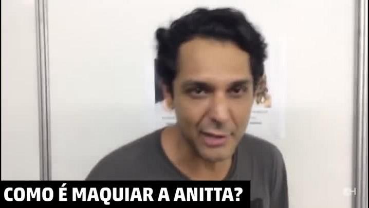 Maquiador da Anitta conta o que a cantora mais gosta de usar