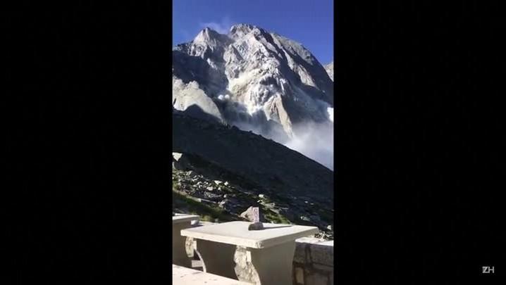 Oito desaparecidos na Suíça após deslizamento