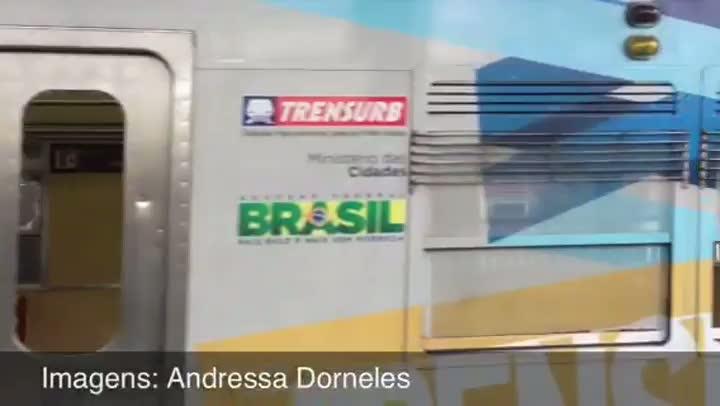 Torcedores de Grêmio e Inter brigam e depredam trem em Sapucaia