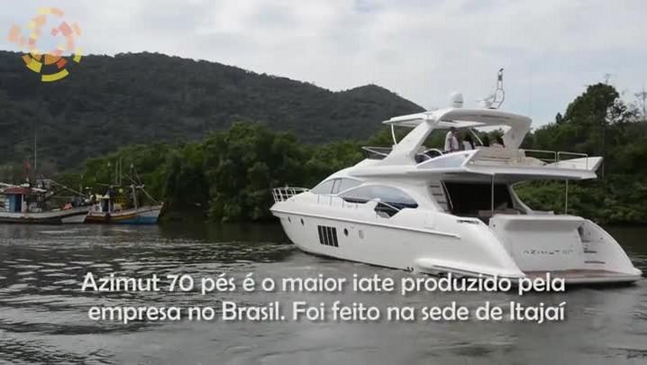 Conheça o interior de um iate de R$ 11 milhões produzido em Itajaí