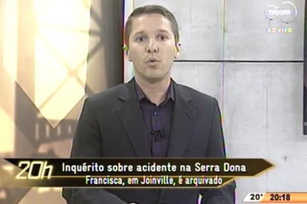 TVCOM 20 Horas - Inquérito sobre acidente na Serra Dona Francisca, em Joinville, é arquivado - 29.06.15