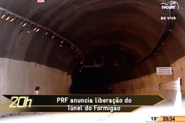 TVCOM 20 Horas - PRF anuncia liberação do Túnel do Formigão - 02.07.15