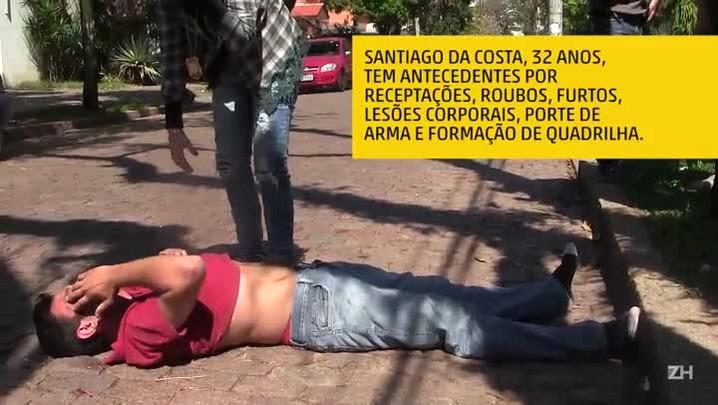 Suspeito é agredido e imobilizado por civis em Porto Alegre