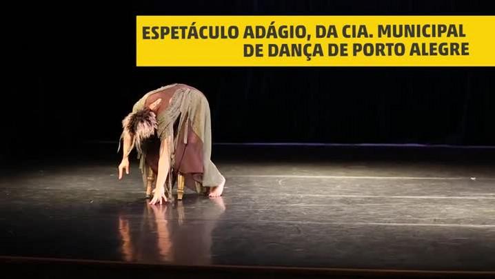 Ensaio da Cia. Municipal de Dança: espetáculo Adágio