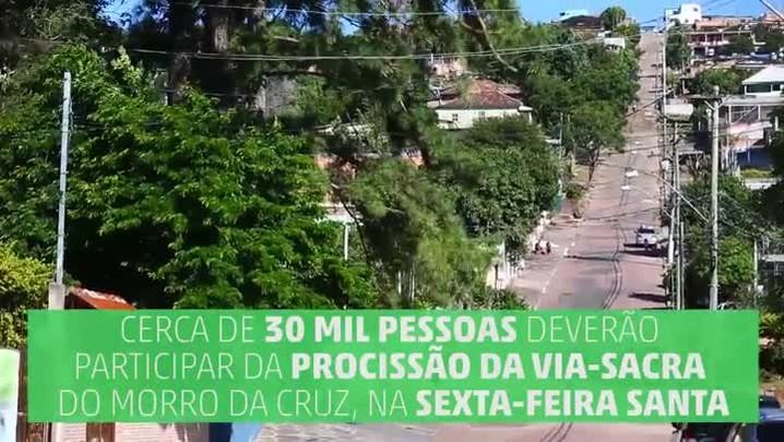 Veja onde será a Via-Sacra do Morro da Cruz, em Porto Alegre