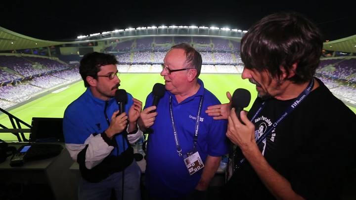 Santaninha, Pedro Ernesto e Eduardo Bueno conhecem estádio onde Grêmio jogará primeira partida do Mundial