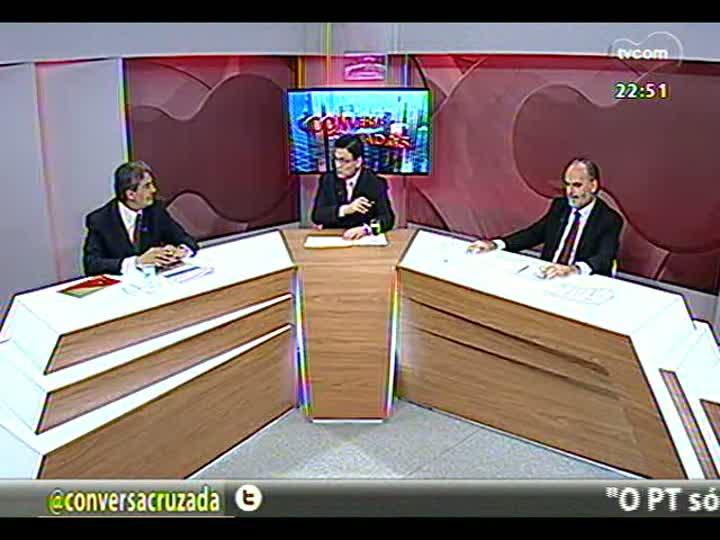 Conversas Cruzadas - Tranferência do governo estadual de mais de R$ 4 bilhões dos depósitos judiciais - Bloco 4 - 03/04/2013