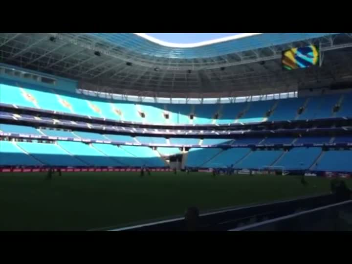 Seleção Brasileira treina na Arena do Grêmio antes do amistoso contra a França. 08/06/2013