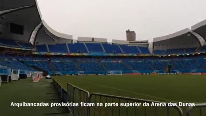 Bombeiros aguardam liberação da Fifa para vistoriar Arena das Dunas - 14/06/2014