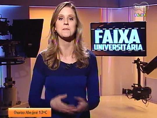 Faixa Universitária - Alunos da UniRitter mostram o passo a passo de produção de reportagem na televisão