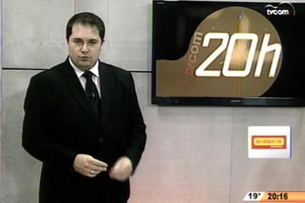TVCOM 20 Horas - Presos da Colônia Agrícola de Palhoça trabalharão na limpeza de ruas - 2º Bloco - 11/09/14