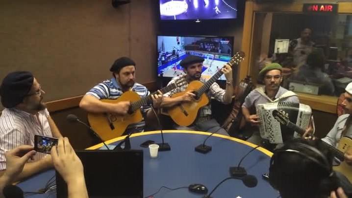 César Oliveira e Rogério Melo na Rádio Gaúcha - Recuerdo