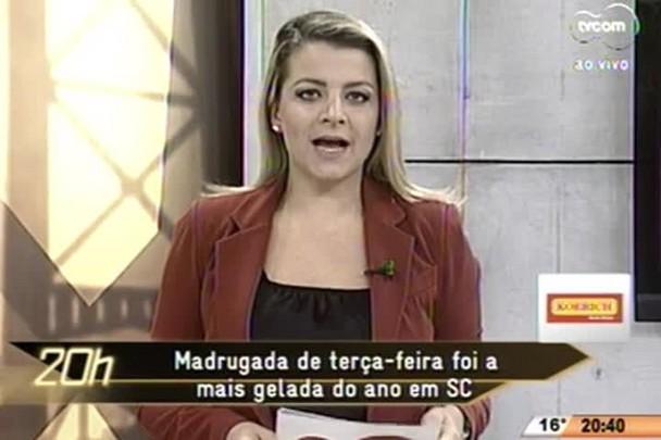 TVCOM 20 Horas - Madrugada de terça-feira foi a mais gelada do ano em SC - 16.06.15