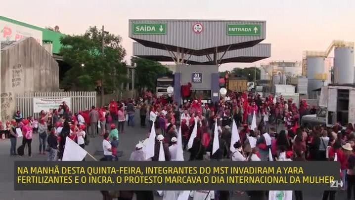 Em protesto, MST invade empresa de fertilizantes e sede do Incra em Porto Alegre