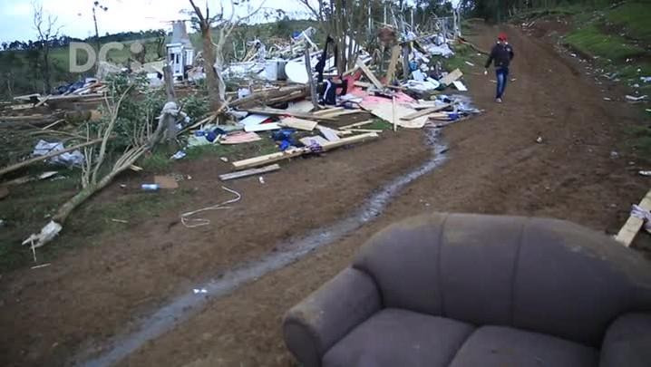 O rastro de destruição em Ponte Alta do Norte