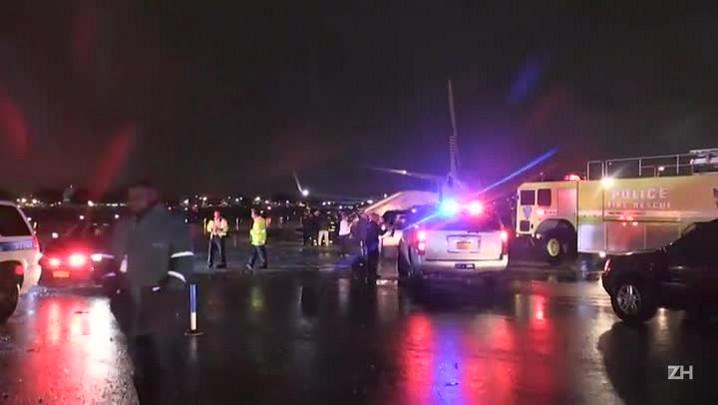 Avião de vice de Trump sai da pista em Nova York