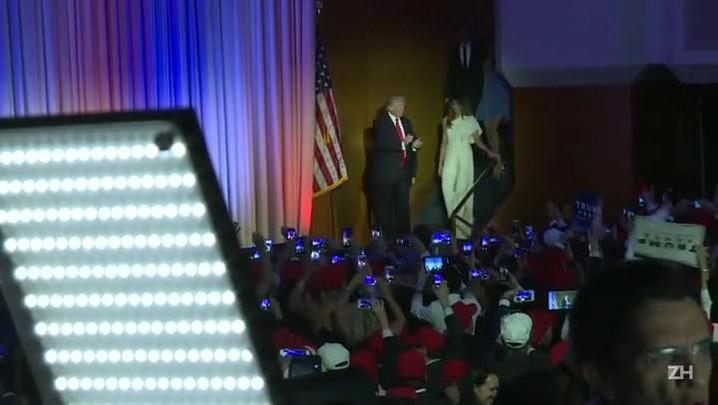 Donald Trump faz discurso conciliatório
