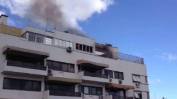 Incêndio atingiu um prédio no bairro Bela Vista