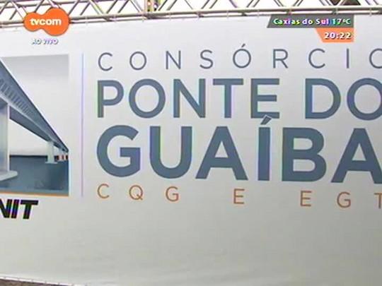 TVCOM 20 Horas - Assinada ordem de início de trabalhos para nova ponte do Guaíba - Bloco 3 - 14/10/2014