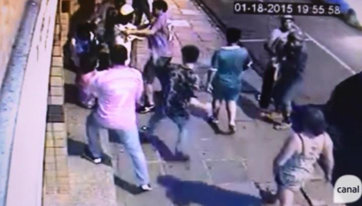 Briga no centro de Vacaria deixa um jovem gravemente ferido