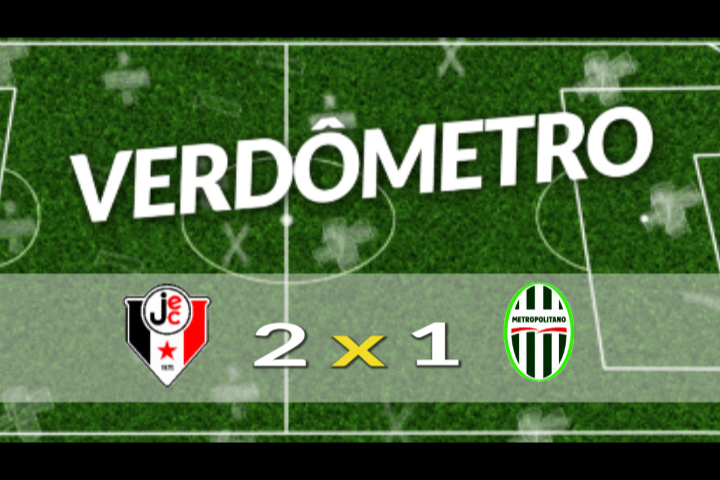 Verdômetro (Joinville 2 x 1 Metropolitano)