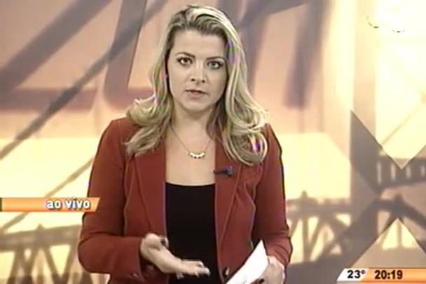 TVCOM 20 Horas - Entrevista com Tenete Coronel Sergio Luis Sell, da Polícia Militar, sobre ônibus incendiados - 24.04.15