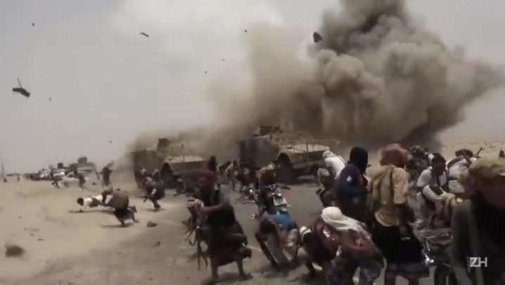 Flagrante de explosão de mina