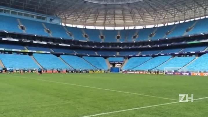 Grêmio treina antes do clásssico Gre-Nal