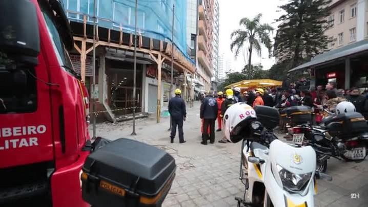 Mulher morre em queda de marquise no centro de Porto Alegre