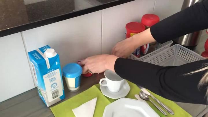 Agilidade e organização no café da manhã