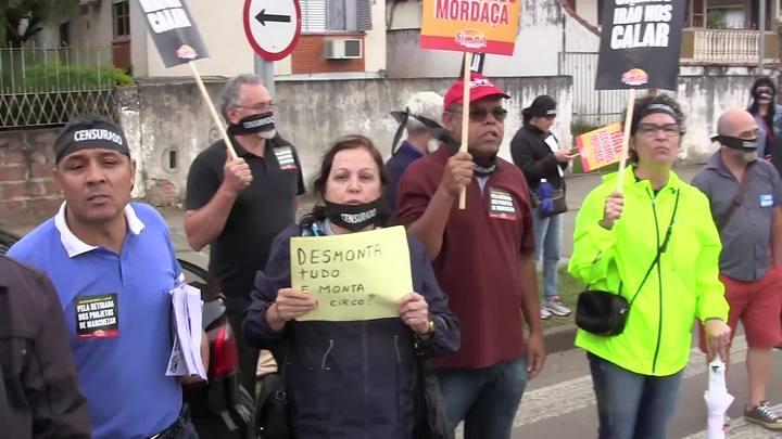 Prefeitura nos Bairros: serviços e protesto no bairro Santa Tereza