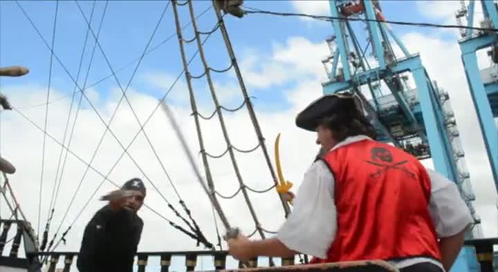 Escuna Pirata na Marejada