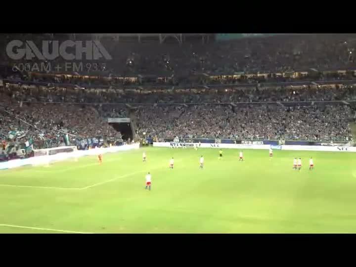 Reveja o primeiro gol marcado na Arena do Grêmio. 10/12/2012