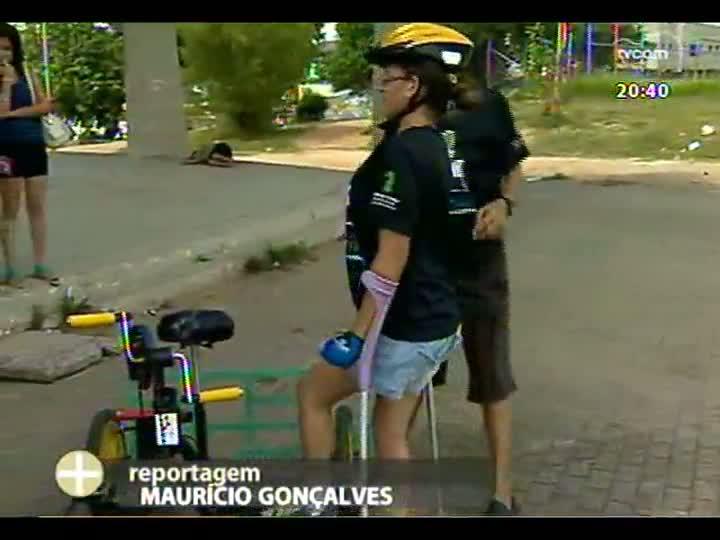 TVCOM Tudo Mais - Projeto que possibilita que deficientes físicos andem de bicicleta