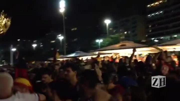 Torcida alemã faz a festa no Rio