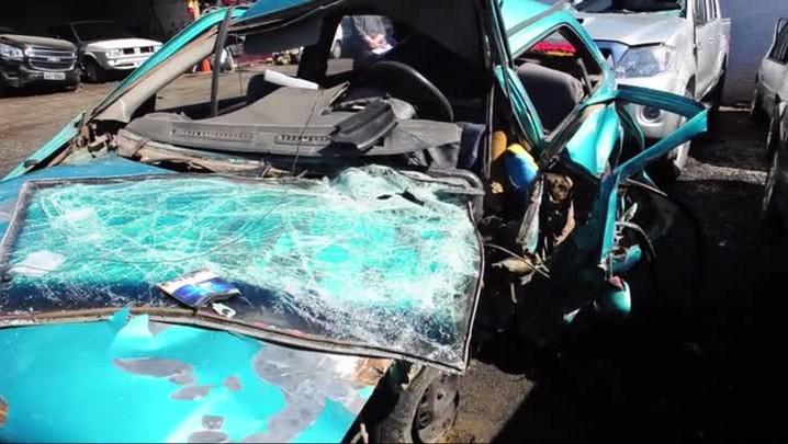 Imagens e depoimento de acidente que matou pai e filho