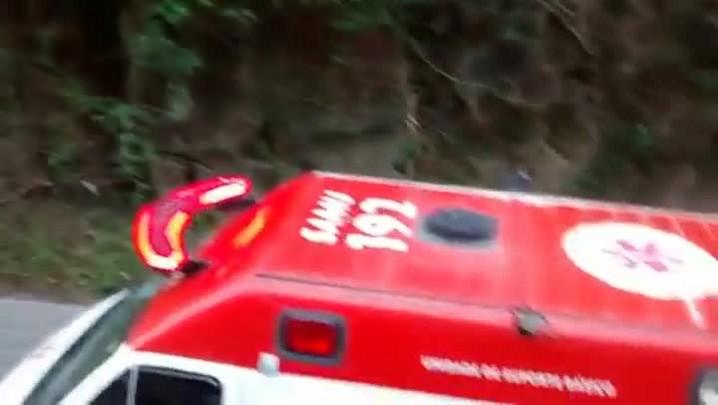 Acidente no Morro da Palha em São Francisco do Sul