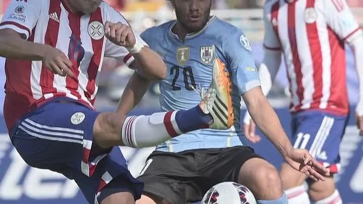 Uruguai e Paraguai empatam por 1 a 1