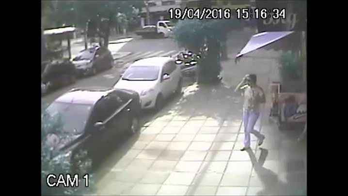 Imagens mostram fuga de suspeito de disparar tiros dentro do HPS
