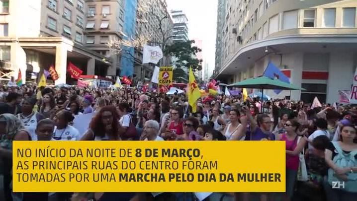 Marcha em Porto Alegre marca o Dia Internacional da Mulher