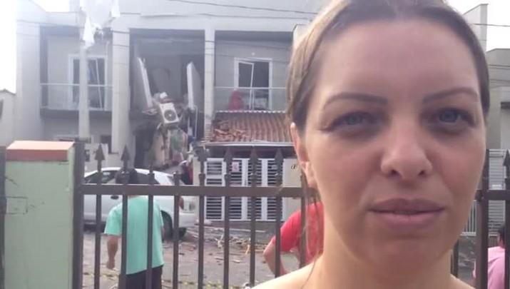 Moradora fala de explosão em geminado em Joinville