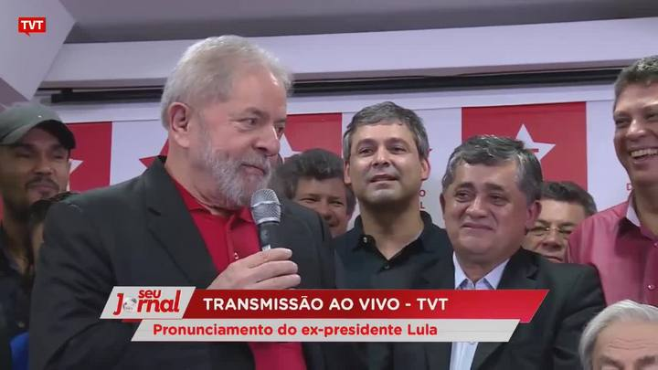 Trechos do pronunciamento do ex-presidente Lula