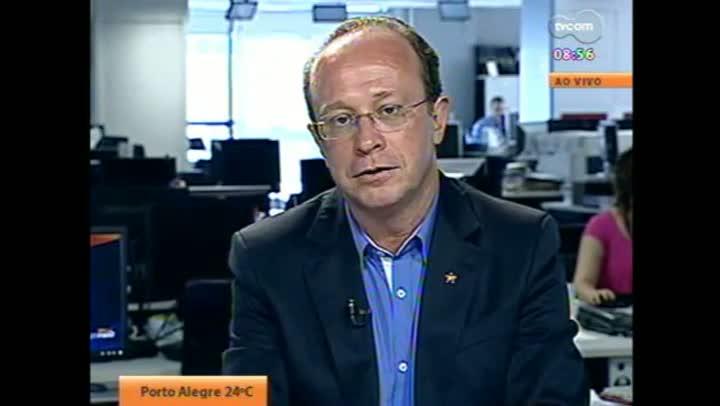 Candidato Villaverde em entrevista à TVCOM