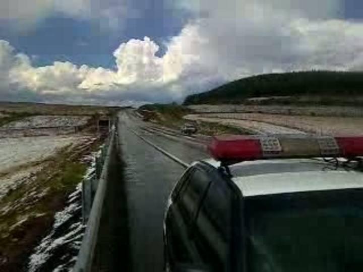 Granizo transforma paisagem em estradas e lavouras entre Lagoa Vermelha e Barracão