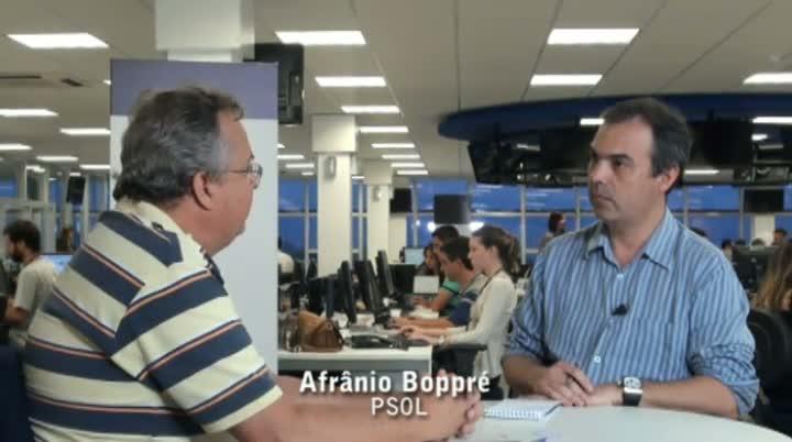 Vereadores eleitos da Capital - Entrevista com Afrânio Boppré
