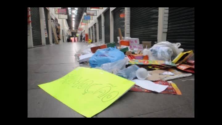Video mostra a desocupação do Mercado Público, em Florianópolis