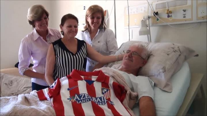 Avô do jaraguaense Filipe Luís, do Atlético de Madrid, assistiu neto na Liga dos Campeões do hospital