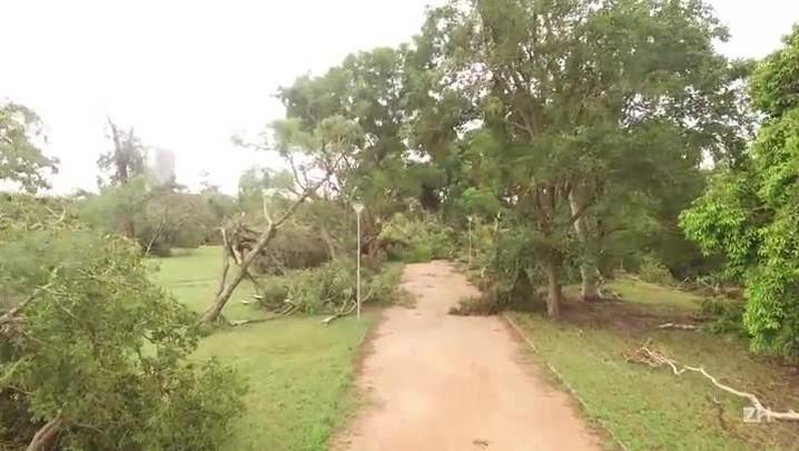 Imagens mostram destruição no Parque Marinha do Brasil