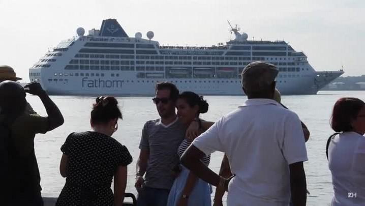 Histórica chegada de cruzeiro a Cuba